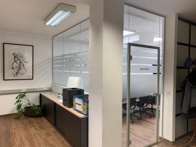 Büro Sichtschutz Milchglasfolie